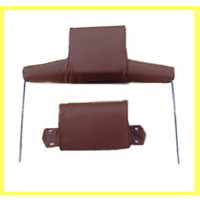 thumb-Head rest with light brown leather trimming wide model 2 pieces Citroën ID/DS-1