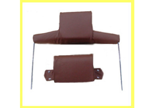 Head rest with light brown leather trimming wide model 2 pieces Citroën ID/DS