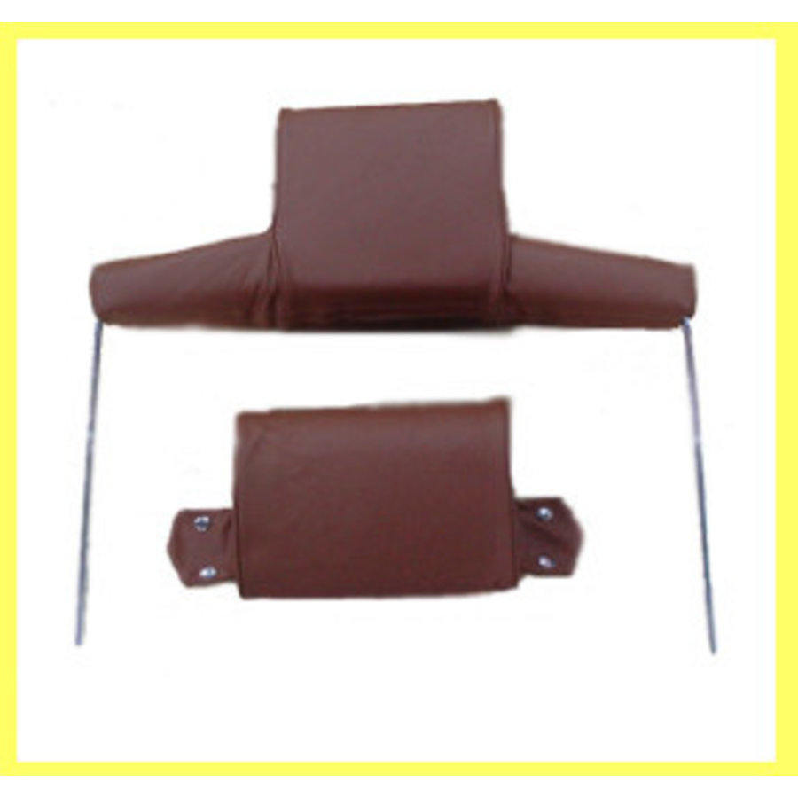 Head rest with light brown leather trimming wide model 2 pieces Citroën ID/DS-1