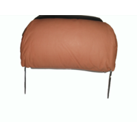 thumb-Head rest with light brown leather trimming for old types (bag shape) wide model 1 pieces Citroën ID/DS-3