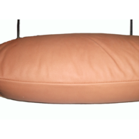 thumb-Head rest with light brown leather trimming for old types (bag shape) wide model 1 pieces Citroën ID/DS-5