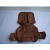 ID/DS Head rest cover with light brown leather trimming narrow model 2 pieces Citroën ID/DS