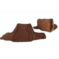thumb-Head rest cover with light brown leather trimming wide model 2 pieces Citroën ID/DS-1