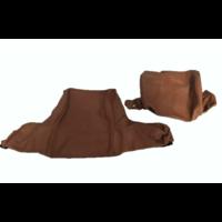 thumb-Garniture pour repose-tête (2 pièces modèle large) garniture cuir tabac Citroën ID/DS-2