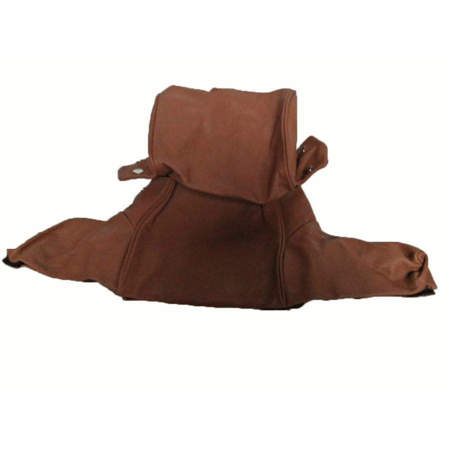 Head rest cover with light brown leather trimming wide model 2 pieces Citroën ID/DS-3