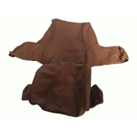 thumb-Head rest cover with light brown leather trimming wide model 2 pieces Citroën ID/DS-6