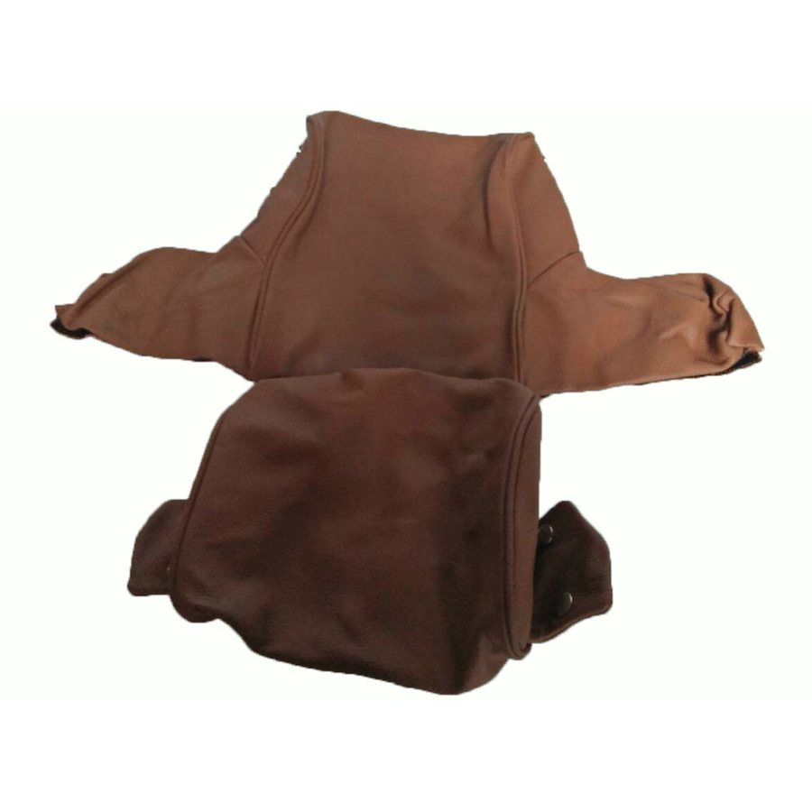Head rest cover with light brown leather trimming wide model 2 pieces Citroën ID/DS-6
