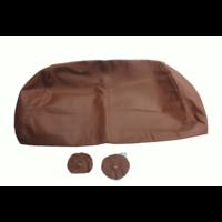 thumb-Bezug für Kopfstütze für altes Modell (1 teilig) sackförmig Leder tabakfarben Citroën ID/DS-1