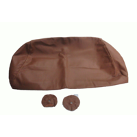 thumb-Head rest cover with light brown leather trimming for old types (bag shape) wide model 1 pieces Citroën ID/DS-1