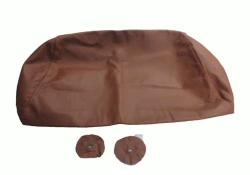Head rest cover with light brown leather trimming for old types (bag shape) wide model 1 pieces Citroën ID/DS