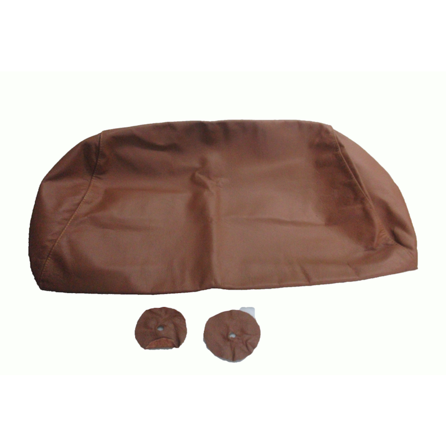 Head rest cover with light brown leather trimming for old types (bag shape) wide model 1 pieces Citroën ID/DS-1