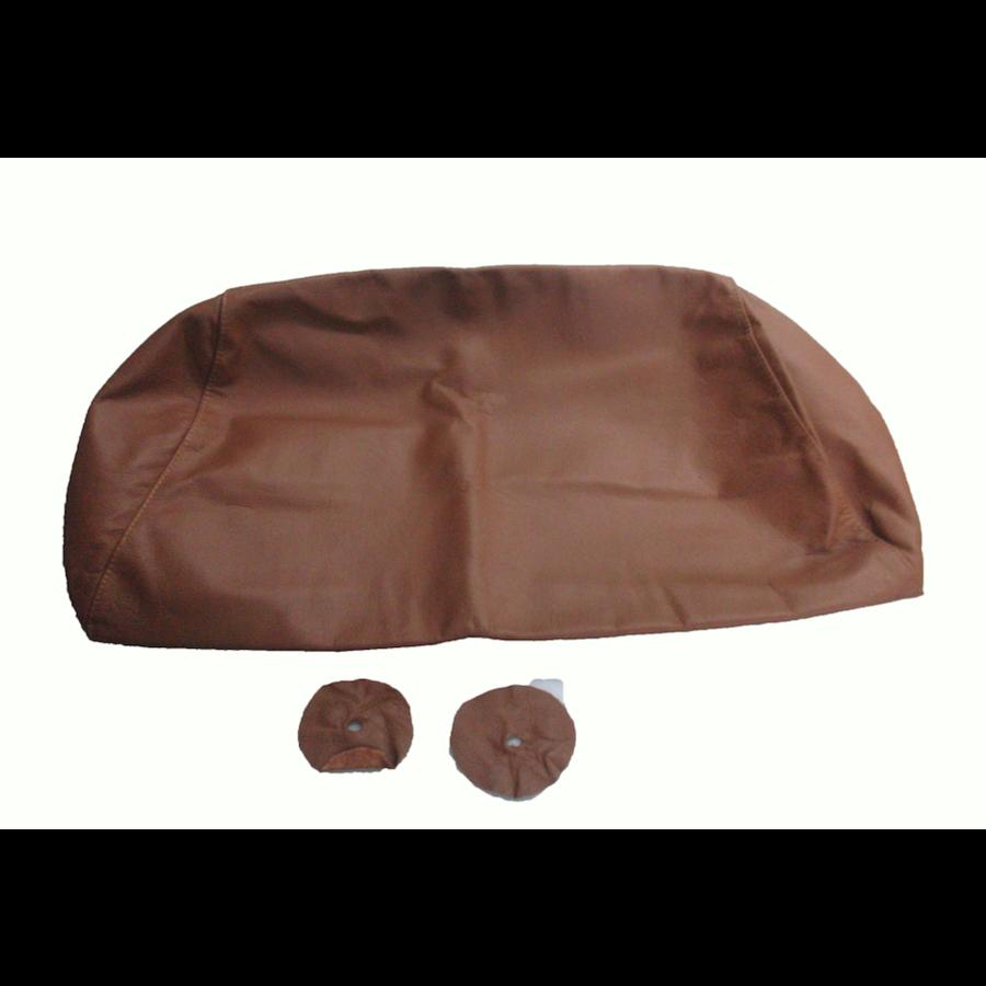 Bezug für Kopfstütze für altes Modell (1 teilig) sackförmig Leder tabakfarben Citroën ID/DS-2