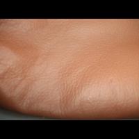 thumb-hoofdsteunhoes zakvormig breed lichtbruin leer Citroën ID/DS-6