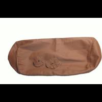 thumb-Bezug für Kopfstütze für altes Modell (1 teilig) sackförmig Leder tabakfarben Citroën ID/DS-10
