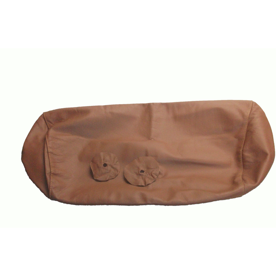 Head rest cover with light brown leather trimming for old types (bag shape) wide model 1 pieces Citroën ID/DS-10
