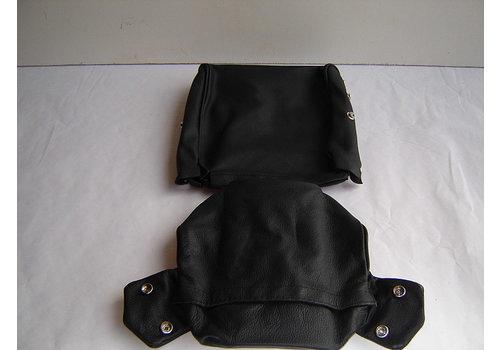 ID/DS Bezug für Kopfstütze (2 teilig) Leder schwarz schmales Modell Citroën ID/DS