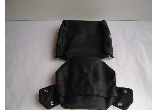 ID/DS Head rest cover with black leather trimming narrow model 2 pieces Citroën ID/DS