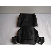 thumb-Garniture pour repose-tête (2 pièces modèle étroit) garniture cuir noir Citroën ID/DS-2