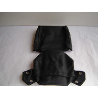 thumb-Head rest cover with black leather trimming narrow model 2 pieces Citroën ID/DS-2