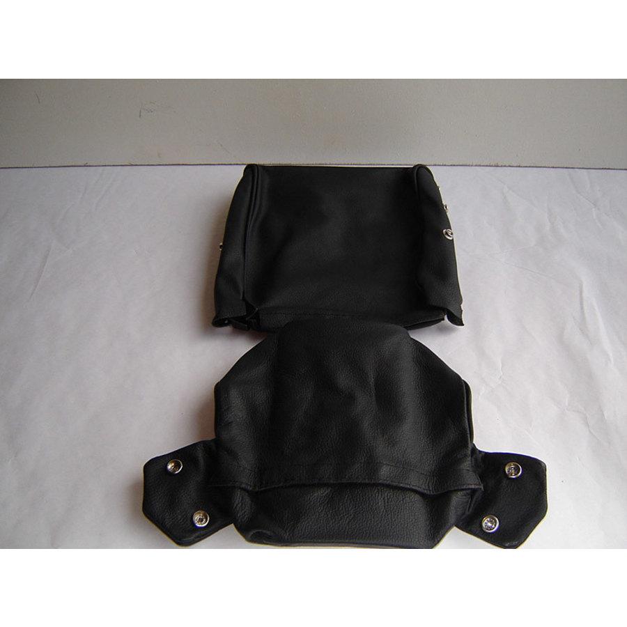 Bezug für Kopfstütze (2 teilig) Leder schwarz schmales Modell Citroën ID/DS-2