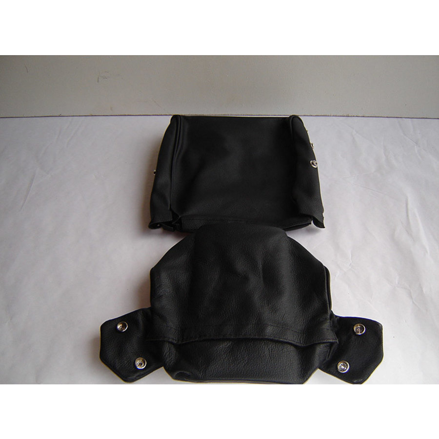 Head rest cover with black leather trimming narrow model 2 pieces Citroën ID/DS-2