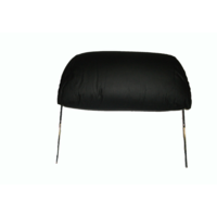 thumb-Kopfstütze für altes Modell (1 teilig) sackförmig Leder schwarz Citroën ID/DS-1