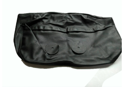 Head rest cover with black leather trimming for old types (bag shape) wide model 1 pieces Citroën ID/DS
