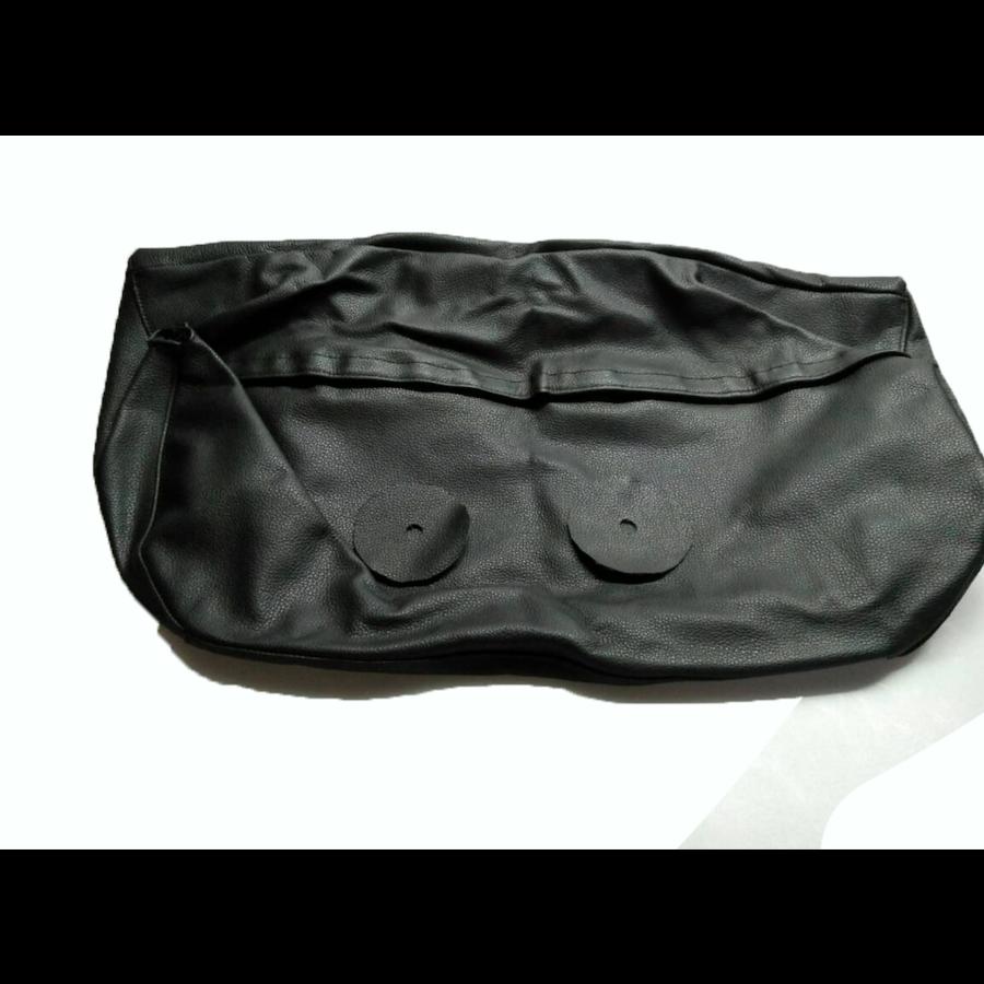 Bezug für Kopfstütze für altes Modell (1 teilig) sackförmig Leder schwarz Citroën ID/DS-1