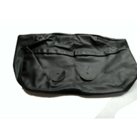 thumb-Hoofdsteunhoes zakvormig breed zwart leer Citroën ID/DS-2