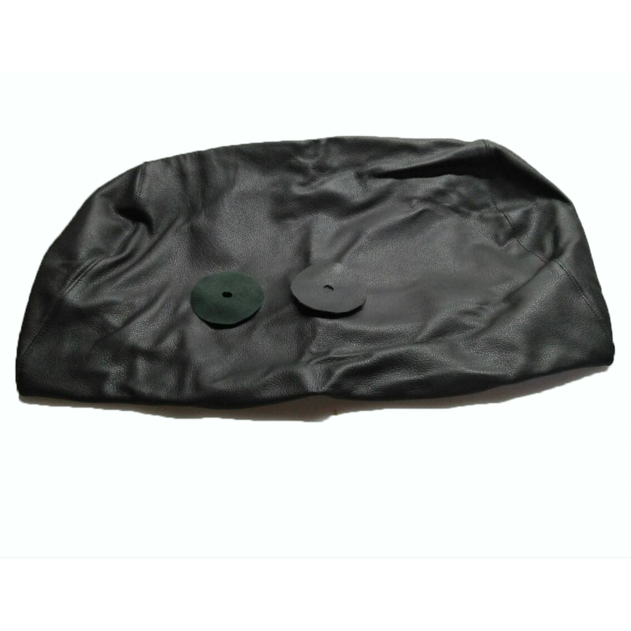Head rest cover with black leather trimming for old types (bag shape) wide model 1 pieces Citroën ID/DS-3