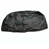 thumb-Hoofdsteunhoes zakvormig breed zwart leer Citroën ID/DS-4