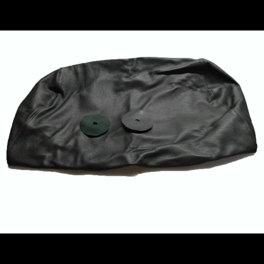Bezug für Kopfstütze für altes Modell (1 teilig) sackförmig Leder schwarz Citroën ID/DS-4