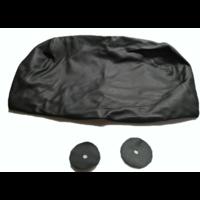 thumb-Bezug für Kopfstütze für altes Modell (1 teilig) sackförmig Leder schwarz Citroën ID/DS-5