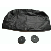 thumb-Hoofdsteunhoes zakvormig breed zwart leer Citroën ID/DS-6