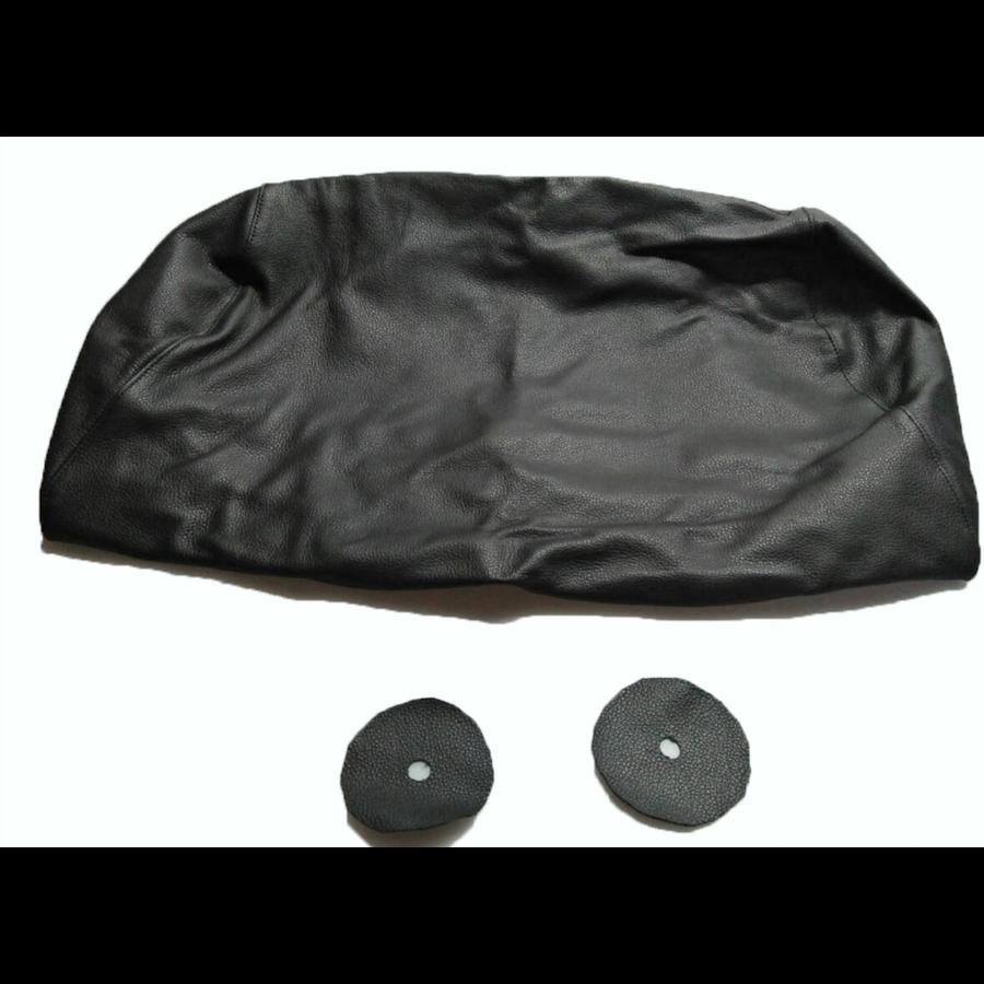 Bezug für Kopfstütze für altes Modell (1 teilig) sackförmig Leder schwarz Citroën ID/DS-6