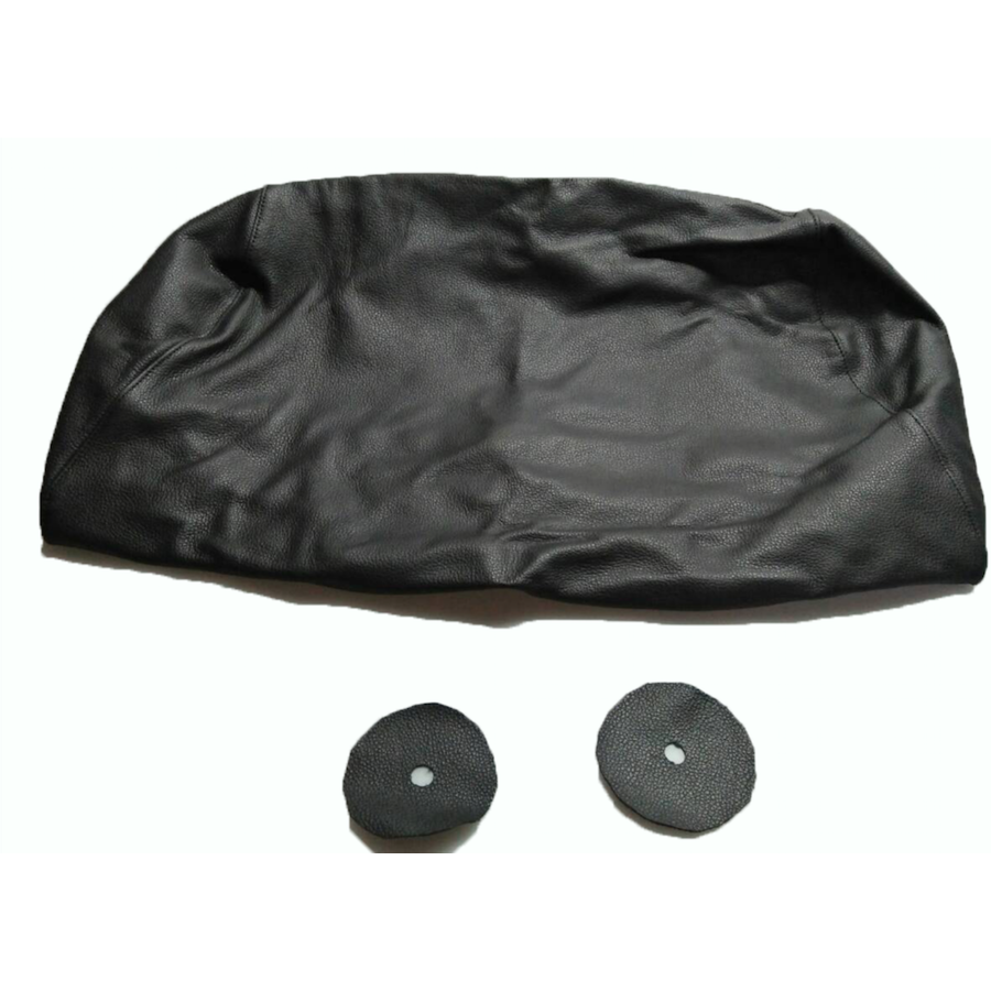 Head rest cover with black leather trimming for old types (bag shape) wide model 1 pieces Citroën ID/DS-6