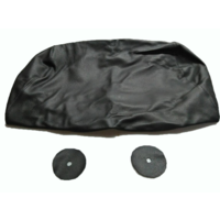 thumb-Head rest cover with black leather trimming for old types (bag shape) wide model 1 pieces Citroën ID/DS-7