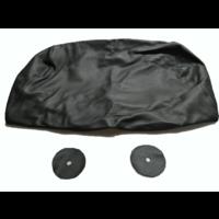 thumb-Hoofdsteunhoes zakvormig breed zwart leer Citroën ID/DS-7