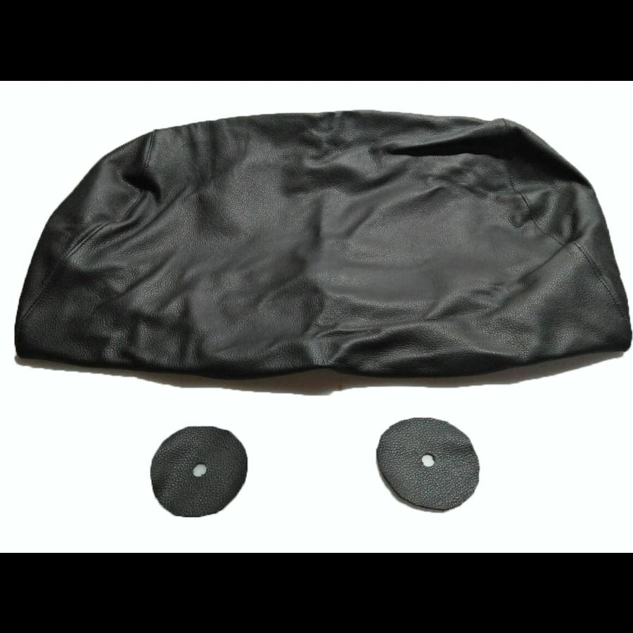 Bezug für Kopfstütze für altes Modell (1 teilig) sackförmig Leder schwarz Citroën ID/DS-7