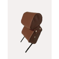 thumb-Head rest with brown leatherette trimming narrow model 2 pieces Citroën ID/DS-1
