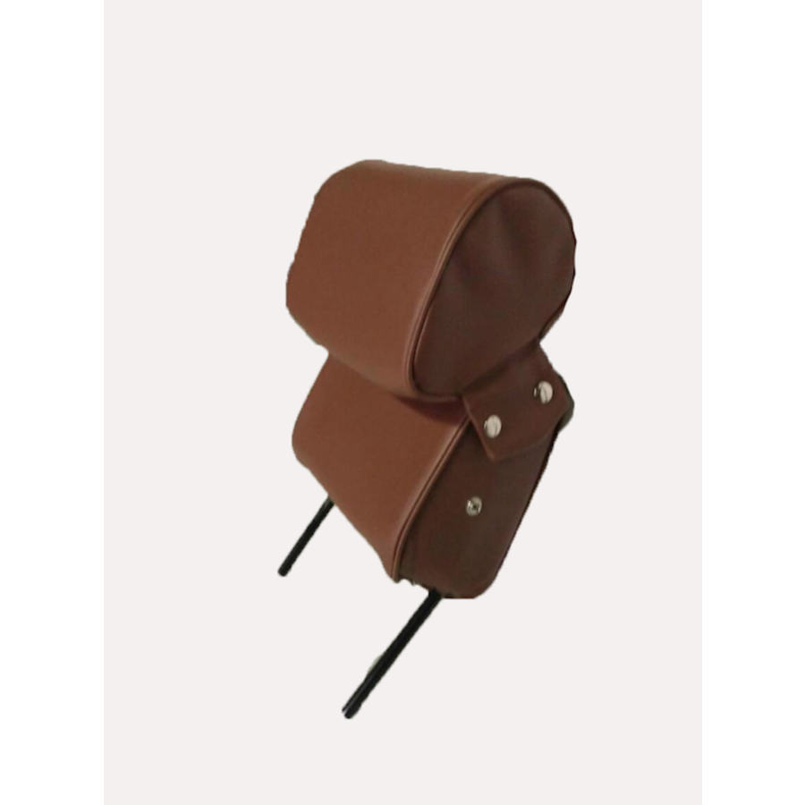 Head rest with brown leatherette trimming narrow model 2 pieces Citroën ID/DS-1
