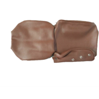 thumb-Head rest cover with brown leatherette trimming narrow model 2 pieces Citroën ID/DS-4