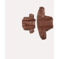 thumb-Bezug für Kopfstütze (2 teilig) Kunstleder braun breites Modell Citroën ID/DS-3