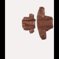 thumb-Bezug für Kopfstütze (2 teilig) Kunstleder braun breites Modell Citroën ID/DS-4