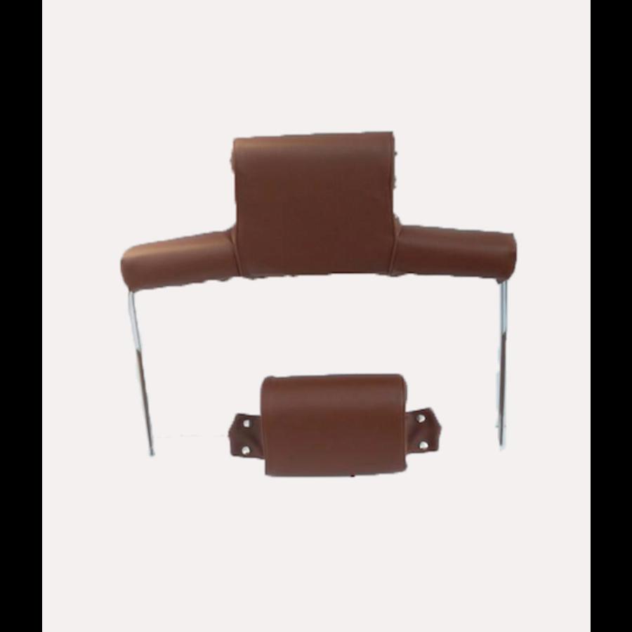 Garniture pour repose-tête (2 pièces modèle large) garniture simili marron Citroën ID/DS-7