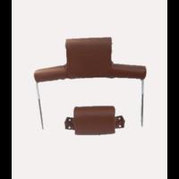 thumb-Garniture pour repose-tête (2 pièces modèle large) garniture simili marron Citroën ID/DS-8