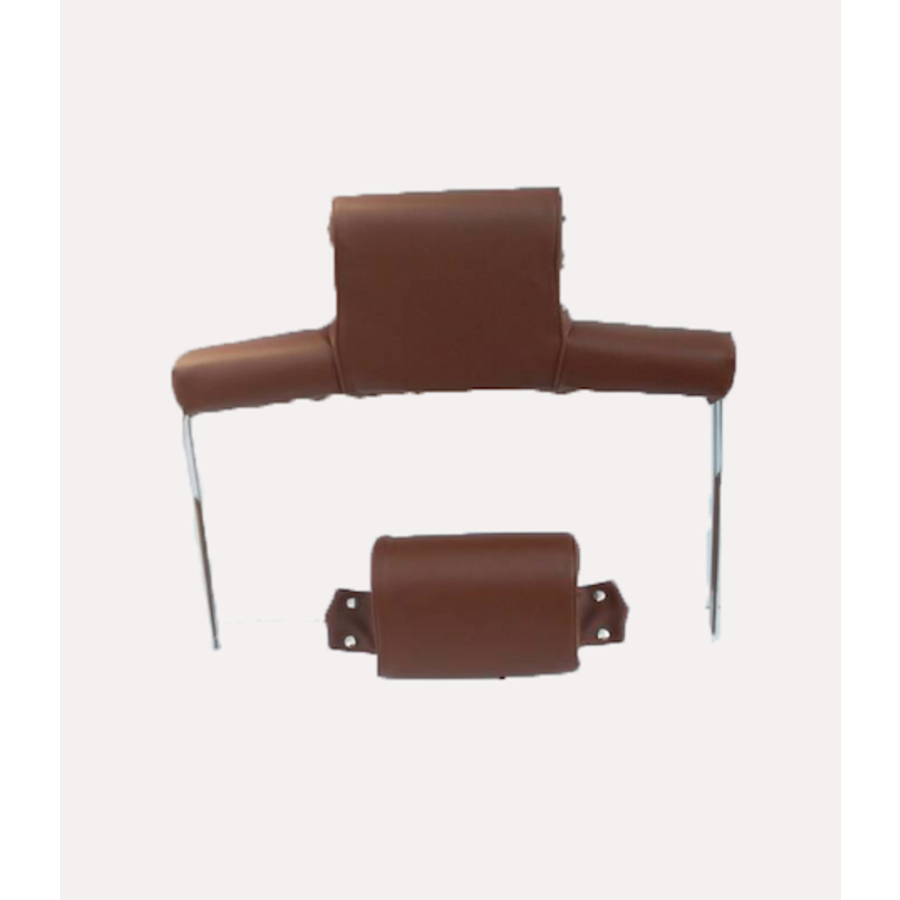 Garniture pour repose-tête (2 pièces modèle large) garniture simili marron Citroën ID/DS-8