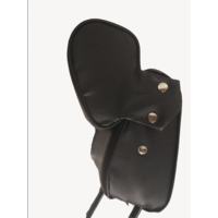 thumb-Head rest with black leatherette trimming narrow model 2 pieces Citroën ID/DS-1