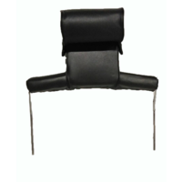 thumb-Kopfstütze (2 teilig) Kunstleder schwarz breites Modell Citroën ID/DS-1