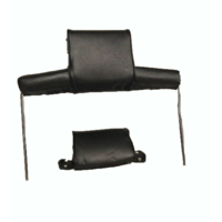 thumb-Head rest with black leatherette trimming wide model 2 pieces Citroën ID/DS-5
